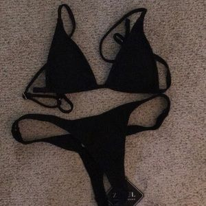 Zaful Black triangle bikini